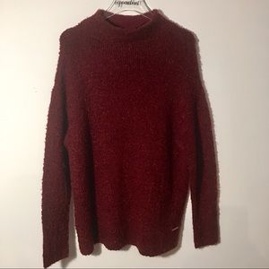 Michael Kors Burgundy Sweater Size Large NWT